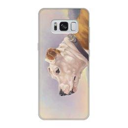 """Чехол для Samsung Galaxy S8, объёмная печать """"Портрет собаки Стафф"""" - арт, собаки, породы, амстаф"""