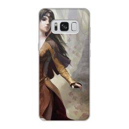 """Чехол для Samsung Galaxy S8, объёмная печать """"Эльфийка в чаще"""" - девушки, эльфы"""
