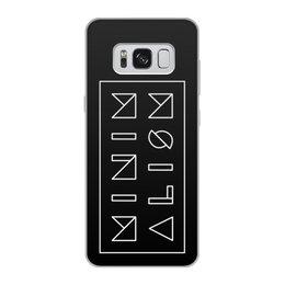 """Чехол для Samsung Galaxy S8, объёмная печать """"Минимализм"""" - надпись, текст, геометрия, буквы, минимализм"""