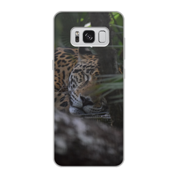 "Чехол для Samsung Galaxy S8, объёмная печать ""Ягуар"" - хищник, animal, predator, ягуар"