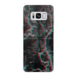 """Чехол для Samsung Galaxy S8, объёмная печать """"Молния"""" - узор, космос, краски, абстракция, молния"""
