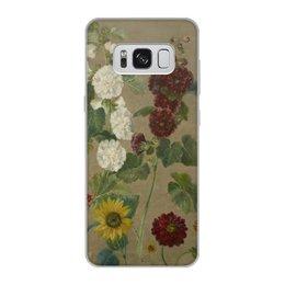 """Чехол для Samsung Galaxy S8, объёмная печать """"Цветы (картина Эжена Делакруа)"""" - цветы, картина, живопись, делакруа, романтизм"""