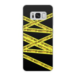 "Чехол для Samsung Galaxy S8, объёмная печать ""Off-white"" - надписи, бренд, brand, off-white, оф вайт"