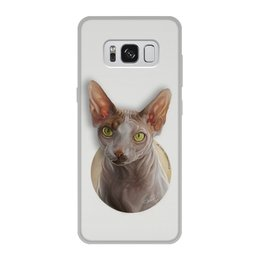 """Чехол для Samsung Galaxy S8, объёмная печать """"КОТ СФИНКС"""" - арт, кошки, коты, иллюстрация"""