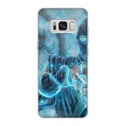 """Чехол для Samsung Galaxy S8, объёмная печать """"Саб-Зиро"""" - классика, мортал комбат, саб-зиро"""