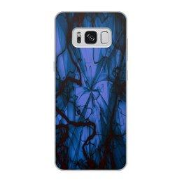 """Чехол для Samsung Galaxy S8, объёмная печать """"Краски"""" - узор, космос, краски, абстракция, молния"""