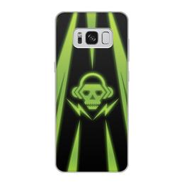 "Чехол для Samsung Galaxy S8, объёмная печать ""Skull"" - skull, music, dubstep"