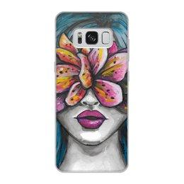 """Чехол для Samsung Galaxy S8, объёмная печать """"Весна"""" - праздник, девушка, цветы, 8 марта, весна"""