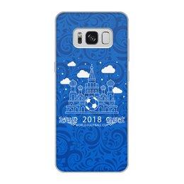 """Чехол для Samsung Galaxy S8, объёмная печать """"Футбол"""" - футбол, спорт, мяч, россия"""