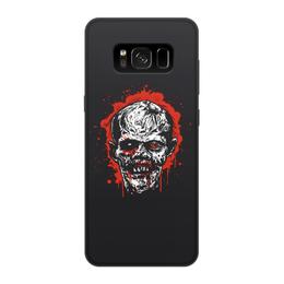 "Чехол для Samsung Galaxy S8, объёмная печать ""Зомби"" - зомби, zombie, мертвец"