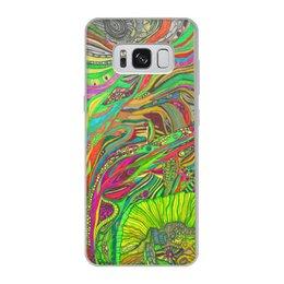 "Чехол для Samsung Galaxy S8, объёмная печать ""Ом Дракон Самсунг лимитед идитион"" - trottart, trotinkaspace, тротинка, trotinka, психоделика"