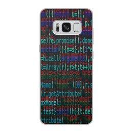 """Чехол для Samsung Galaxy S8, объёмная печать """"Программа"""" - компьютеры, код, программа, пароль, кодировка"""