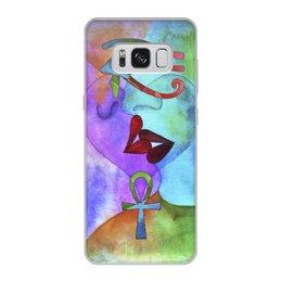"""Чехол для Samsung Galaxy S8, объёмная печать """"Бесконечная любовь"""" - сердце, любовь, губы, абстракция, поцелуй"""