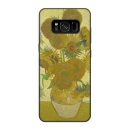 "Чехол для Samsung Galaxy S8, объёмная печать ""Подсолнухи (Винсент Ван Гог)"" - картина, ван гог"