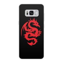 """Чехол для Samsung Galaxy S8, объёмная печать """"ДРАКОНЫ ФЭНТЕЗИ. СИМВОЛИКА"""" - стиль, дракон, красота, эмблема, символ"""