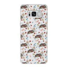 """Чехол для Samsung Galaxy S8, объёмная печать """"Моя любимая собака"""" - собака, корги, пемброк, вельшкорги"""