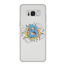 "Чехол для Samsung Galaxy S8, объёмная печать ""Биткойн"" - биткойн, bitcoin, криптовалюта, cryptocurrency"