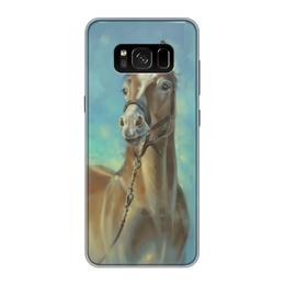 """Чехол для Samsung Galaxy S8, объёмная печать """"Без названия"""" - голубой"""