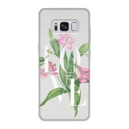 "Чехол для Samsung Galaxy S8, объёмная печать ""With love"" - with love"
