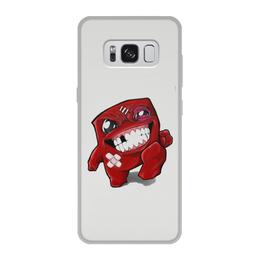 """Чехол для Samsung Galaxy S8, объёмная печать """"Super Meat Boy"""" - super meat boy, meat boy, игровой персонаж, мясной парень"""