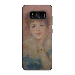 """Чехол для Samsung Galaxy S8, объёмная печать """"Портрет актрисы Жанны Самари (Ренуар)"""" - картина, ренуар"""