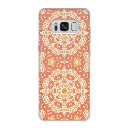 """Чехол для Samsung Galaxy S8, объёмная печать """"Нежный."""" - арт, узор, абстракция, фигуры, текстура"""