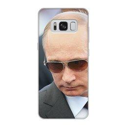"""Чехол для Samsung Galaxy S8, объёмная печать """"ПУТИН. ПОЛИТИКА"""" - арт, стиль, очки, россия, президент"""