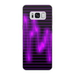 """Чехол для Samsung Galaxy S8, объёмная печать """"Мелодия"""" - музыка, узор, звук, краски, звуковая волна"""