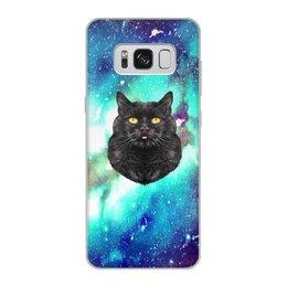 """Чехол для Samsung Galaxy S8, объёмная печать """"Кот в космосе"""" - кот, звезды, котенок, космос, коты в космосе"""