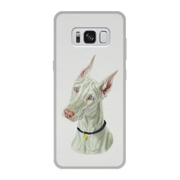 """Чехол для Samsung Galaxy S8, объёмная печать """"Доберман"""" - арт, собаки, доберман"""