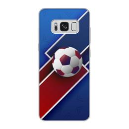 "Чехол для Samsung Galaxy S8, объёмная печать ""Футбол"" - футбол, спорт, мяч, 2018"