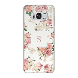 """Чехол для Samsung Galaxy S8, объёмная печать """"Монограмма"""" - подарок, монограмма, имя, персональный"""