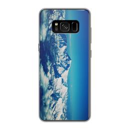 """Чехол для Samsung Galaxy S8, объёмная печать """"Снежные горы"""" - небо, горы"""