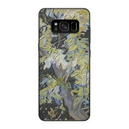 """Чехол для Samsung Galaxy S8, объёмная печать """"Ветви цветущей акации (Винсент ван Гог)"""" - картина, ван гог"""