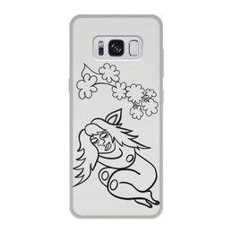 """Чехол для Samsung Galaxy S8, объёмная печать """"Дремлющая троллита"""" - арт, девушка, тролль, сладкий сон, нега"""