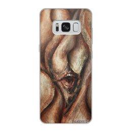 """Чехол для Samsung Galaxy S8, объёмная печать """"HOWL/Воль"""" - картина, современное искусство, экспрессионизм, эмоция, пугающие"""