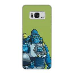 """Чехол для Samsung Galaxy S8, объёмная печать """"Космическая горилла"""" - юмор, космос, обезьяна, горилла, космические войска"""