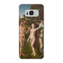 """Чехол для Samsung Galaxy S8, объёмная печать """"Грехопадение (картина ван дер Гуса)"""" - эдем, адам и ева, живопись, хуго ван дер гус, картина"""