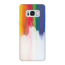 """Чехол для Samsung Galaxy S8, объёмная печать """"Rainbow"""" - радуга, яркий, красивый, иной, притягательный"""