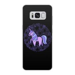 "Чехол для Samsung Galaxy S8, объёмная печать ""Unicorn"" - звезды, сердце, единорог, орнамент, узор"