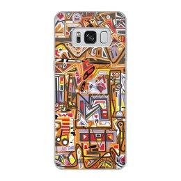 """Чехол для Samsung Galaxy S8, объёмная печать """"Оранжевый дом."""" - арт, узор, абстракция, фигуры, текстура"""
