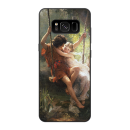 """Чехол для Samsung Galaxy S8, объёмная печать """"Весна (Пьер Огюст Кот)"""" - кот, картина"""