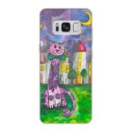 """Чехол для Samsung Galaxy S8, объёмная печать """"Smiling cat"""" - cat, подарок, samsung, персональный, danyairoma"""
