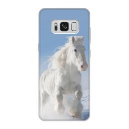 """Чехол для Samsung Galaxy S8, объёмная печать """"Лошадь"""" - лошадь, фотография, животное, конь"""