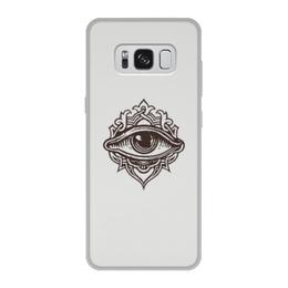 """Чехол для Samsung Galaxy S8, объёмная печать """"Всевидящее око"""" - глаз, око"""