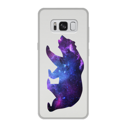 """Чехол для Samsung Galaxy S8, объёмная печать """"Space animals"""" - space, bear, медведь, космос, астрономия"""