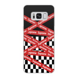 "Чехол для Samsung Galaxy S8, объёмная печать ""Supreme"" - надписи, бренд, brand, supreme, суприм"
