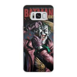 """Чехол для Samsung Galaxy S8, объёмная печать """"Бэтмен Джокер BATMAN  JOKER"""" - надпись, стиль, шляпа, камера"""