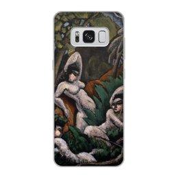 """Чехол для Samsung Galaxy S8, объёмная печать """"Лето (картина Макса Вебера)"""" - картина, живопись, кубизм, модерн, вебер"""