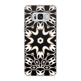 """Чехол для Samsung Galaxy S8, объёмная печать """"Кофейный"""" - подарок, абстракция, фрактал, digital art, спектр"""